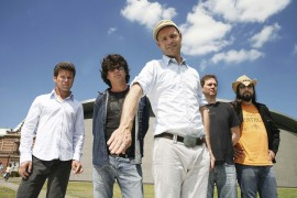Members of The Tragically Hip (left to right) Gord Sinclair, Paul Langlois, Gord Downie, Johnny Fay and Rob Baker are shown in a recent handout photo. Langlois says he's honoured that his hometown of Kingston, Ont., has decided to dedicate a street to the veteran group. THE CANADIAN PRESS/HO-Clemens Rikken